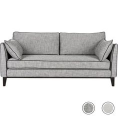 Content by Terence Conran Keston 3 Seater Sofa, Jet Grey from Made.com. NEW A luxurious sofa and armchair collection, made and finished in the UK wi..