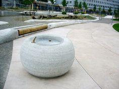 AntonGhiggi_Pfingstweid_09 Zurich, Drinking Fountain, Precast Concrete, Street Furniture, Environment Design, Urban Landscape, Something Beautiful, Outdoor Furniture, Outdoor Decor