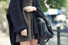 Chunky knit sweater,