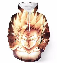 Dragon Ball Z Muscle Shirt - Newest Anime Dragon Ball Z Super Saiyan Hoodies