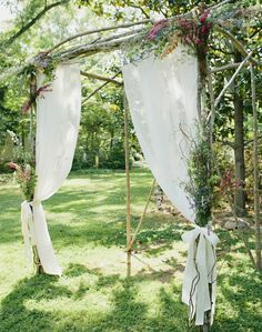 Outdoor wedding decoration idea