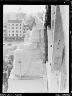 Statue of a nurse on the Anzac Memorial, Sydney, 16 February 1935