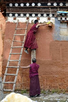 Monastery Mud Makeover | Gansu, China  | China photo