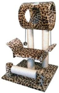 <3 Leopard-spotted cat condo. Freakin awesome!