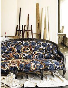 discontinued Nathalie Lete for Anthroplogie sofa. *sigh*