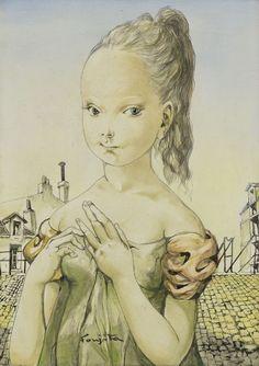 [ F ] Tsuguharu Foujita - Portrait of a Young Girl (1959) | Flickr - Photo Sharing!