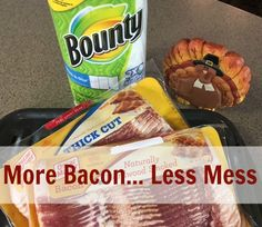 We make a lot of bacon in the Woodruff house hold. Get more bacon and less mess with Bounty paper towels. Bounty Paper Towels, Food Storage Organization, More And Less, Bacon, Snack Recipes, Household, Chips, Snack Mix Recipes, Appetizer Recipes