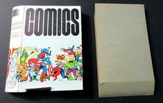 Rare vintage original 1973 Marvel Comics comic book storage box by Jim Steranko:Spider-man,Avengers,Hulk,Thor,Ironman,Captain America,Fantastic Four,Silver Surfer, FOOM, MMMS, Marvelmania, 1970's!