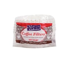 Nicole Home Collection 02082 150 Count Coffee Filters White -- Want to know more, click on the image.Note:It is affiliate link to Amazon.