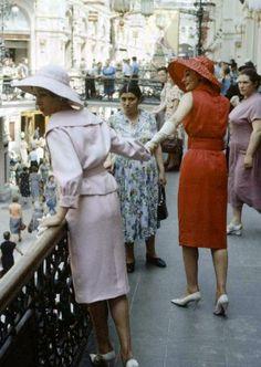 Christian Dior Soviet fashion shoot, 1950s