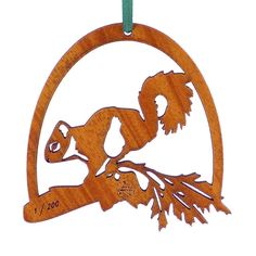 """Amazon.com: Advent Ornaments Numbered Limited Edition """"SQUIRREL 2"""", Laser Cut and Engraved Wood Christmas Tree Ornament: Home  Kitchen"""