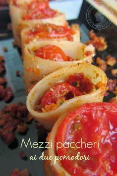 meri in cucina: mezzi paccheri ai due pomodori with our Plate Kontengo #Poloplast
