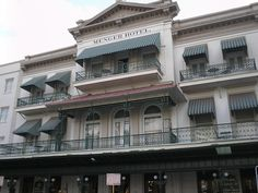 """The Menger Hotel. Known as """"The Most Haunted Hotel in Texas,"""" the Menger supposedly hosts numerous spirits, including a murdered employee."""