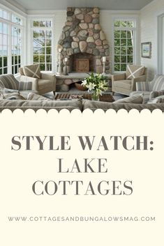Michigan boasts more cottages and second homes than any other state. Learn about cottage renovating from this community with a love of lake cottages. Cottage Style Decor, Cottage Style Homes, Cottage Design, Cottage Ideas, Farmhouse Design, Cottages And Bungalows, Small Cottages, Cabins And Cottages, Lakeside Cottage