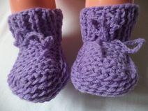 Babyschuhe gestrickt 62/68 Schurwolle Baby Schuhe