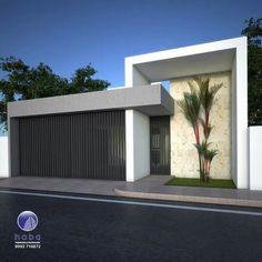 Best 12 56 ideas house facade render home for 2019 – SkillOfKing. Gate Wall Design, House Gate Design, Garage Door Design, Bungalow House Design, House Front Design, Entrance Design, House Entrance, Modern Exterior, Exterior Design