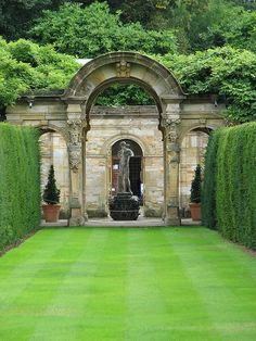 The Italian Garden at Hever Castle in Kent.  (This could be done on a much smaller scale)