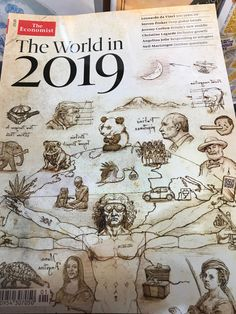 The World in 2019 - The Economist Perfect Image, Magazine Covers, New Trends, Vintage World Maps, Make It Yourself, This Or That Questions, New Fashion