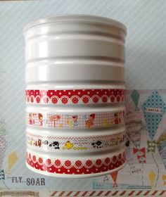 Reciclar latas de leche Tin Can Alley, Washi Tape, Storage Organization, Decoupage, Kitchen Decor, Recycling, Projects To Try, Sweet Home, Canning