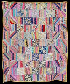 Unknown Quilt Maker Collected in California 66 x 80 inches Circa 1930 Cottons McPherson Collection