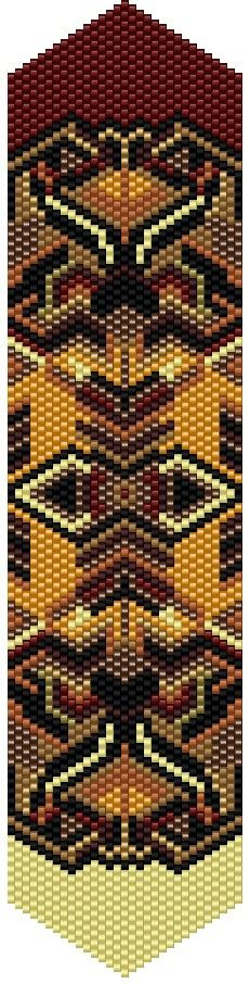 """New pattern listed: """"Vase Abstract"""" Odd Count Peyote stitch bracelet pattern. Please follow this link for the direct download and/or kit: http://cart.javallebeads.com/Vase-Abstract-Odd-Count-Peyote-Stitch-Pattern-p/td090.htm"""