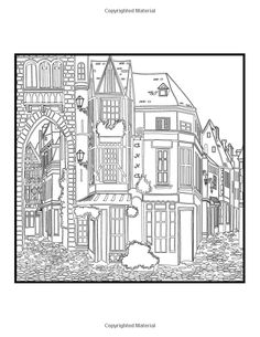 Architectural Art A Stress Management Coloring Book For Adults Penny Farthing Graphics 9781517481292 Amazon Books