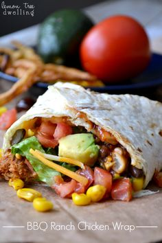 BBQ Ranch Chicken Wrap ... a la Cheesecake Factory (she: Cathy)