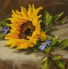 DPW Fine Art Friendly Auctions - Big Sun & Little Blues by Karen Werner
