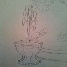 #tbt  #throwbackthursday a #pencil #drawing I started that is in one of my old #sketchbooks Even then I was fascinated with #fountains  #art #artistic #artoftheday #drawingaday #wip #sketchaday