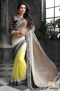 Yellow And Brown Net Party Wear Saree With Style. Buy Now @ http://www.pavitraa.in/catalogs/norita-latest-sarees-catalog-online-2015/?utm_source=kin&utm_medium=pinterestpost&utm_campaig=7sep. Call : +91 7698234040 #pavitraa, #sarees, #designersarees, #partywearsaree, #weddingsarees, #casaulsaree, #bridalsarees, #bollywoodsarees, #printedsarees, #onlinesarees, #onlineshopping, #lehengasarees