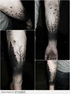 drzewa , ptaki, las