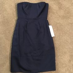 J. crew NEW navy strapless dress size 0p Brand New J. crew special occasion party dress size 0 petite. Navy color. Tags attached J. Crew Dresses Strapless