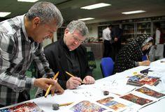 Father Pat Learns Arabic Script - Pervaiz Akthar