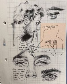 The reason why I'm alwayssssss drawing on this kind of paper is because I find it really aesthetically pleasing,and also because it keeps… Art Du Croquis, Croquis Drawing, Gcse Art Sketchbook, Art Hoe, Sketchbook Inspiration, Art Drawings Sketches, Pretty Art, Aesthetic Art, Painting & Drawing