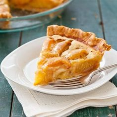 Peaches and Cream Pie~T~ One of my favorite peach desserts.