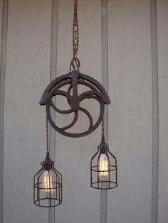 Pulley Light Fixture~ by Hercio Dias