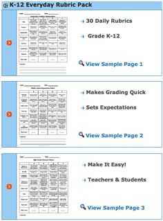 Educational Technology and Mobile Learning: Some Handy Resources of Pre-made Rubrics for Teachers