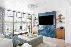 Modern Beach House - Patterson Custom Homes Dream Bedroom, Home Decor Bedroom, Warm Home Decor, Coastal Living Rooms, Blue Tiles, Dream Decor, Beach House Decor, House Tours, Custom Homes