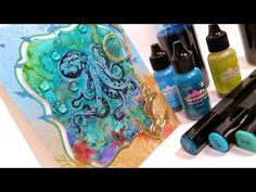 Learn Alcohol Ink Techniques on YUPO {Octopus Card} - YouTube