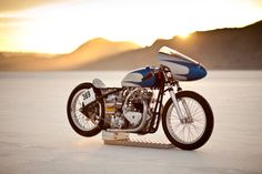 ~ 183 Photograph Gary Margerum Built by barons speed shop and ridden home with the record by Peter Allen!