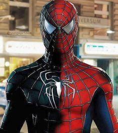 Spiderman Black Suit, Spiderman Pictures, Black Spiderman, Spiderman Spider, Amazing Spiderman, Spiderman 2002, Marvel Comics, Marvel Films, Marvel Art