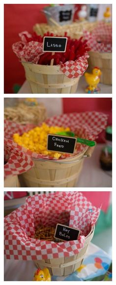 Farm Themed First Birthday Party Farm Themed First Birthday Party Adorable Barnyard Animals Are Featured In This Cute Farm Themed First Birthday Party Https Www Prettymyparty Com Farm Themed First Birthday Party <br> Farm Animal Birthday, Cowboy Birthday Party, Horse Birthday, Farm Birthday, Boy Birthday Parties, Birthday Ideas, Cowgirl Party Food, Western Party Foods, Petting Zoo Birthday Party
