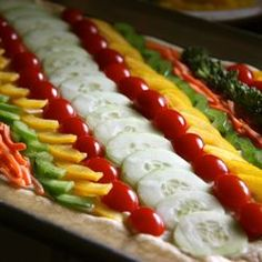 Summer Vegetable Tart... perfect for weekend entertaining- you won't believe how easy it is!