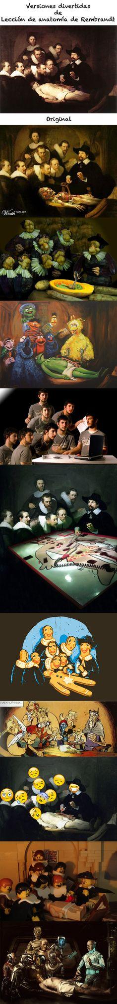 Versiones divertidas de Lección de anatomía de Rembrandt