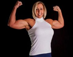 "Fit, fab and flexing 16"" biceps – female bodybuilder Kimberly Kasprzyk is fantastic at 52!"