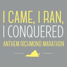 Anthem Richmond Marathon finisher badge!