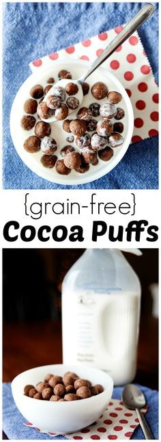 Homemade Grain-Free Cocoa Puffs from http://LauraFuentes.com