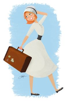 Lauren Patterson Professional Illustration and Design Woman Illustration, Travel Illustration, Character Inspiration, Character Design, Train Tour, Working Woman, Just In Case, Cute Pictures, Clip Art