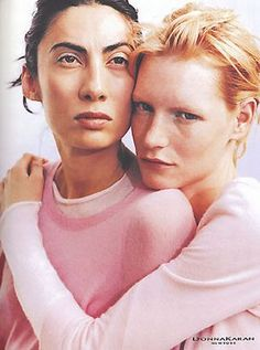 Ann Duong and Kirsten Owen by Peter Lindbergh - Donna Karan S/S 1999