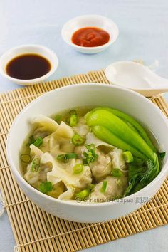 Dumpling Soup: While it isn't vegan, it could be easily veganized with some creativity